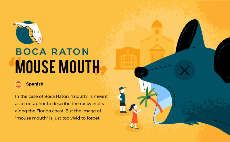 literal name of boca raton - mouse mouth