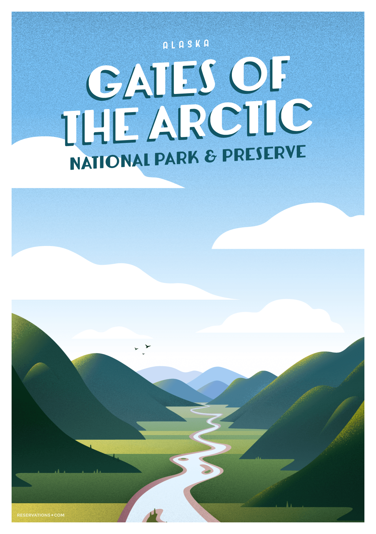 gates of the arctic travel poster