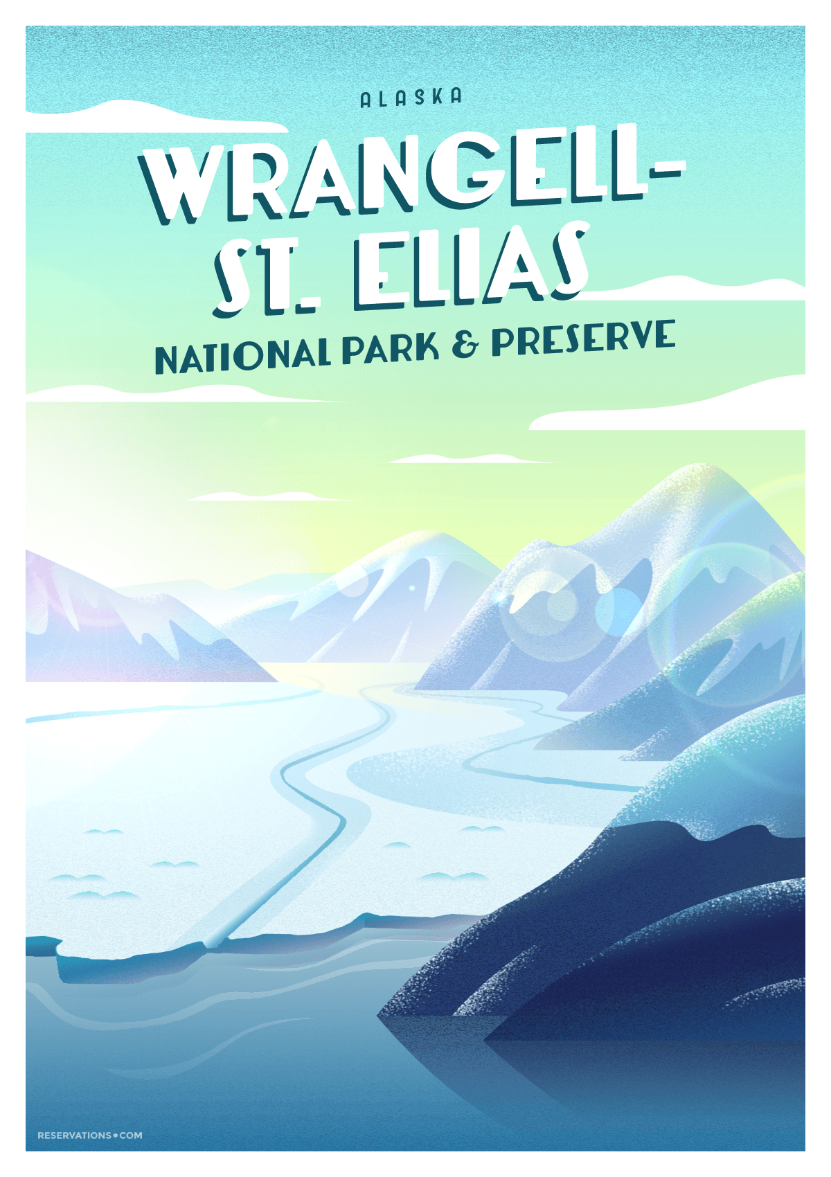 wrangell st elias national park poster