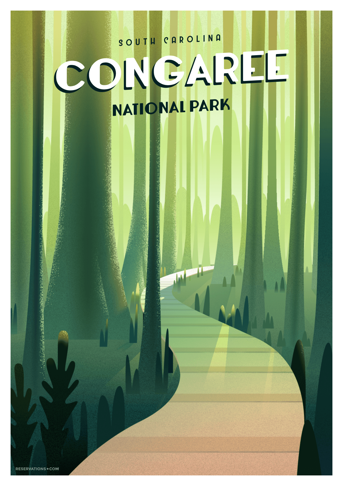 cogaree national forest poster