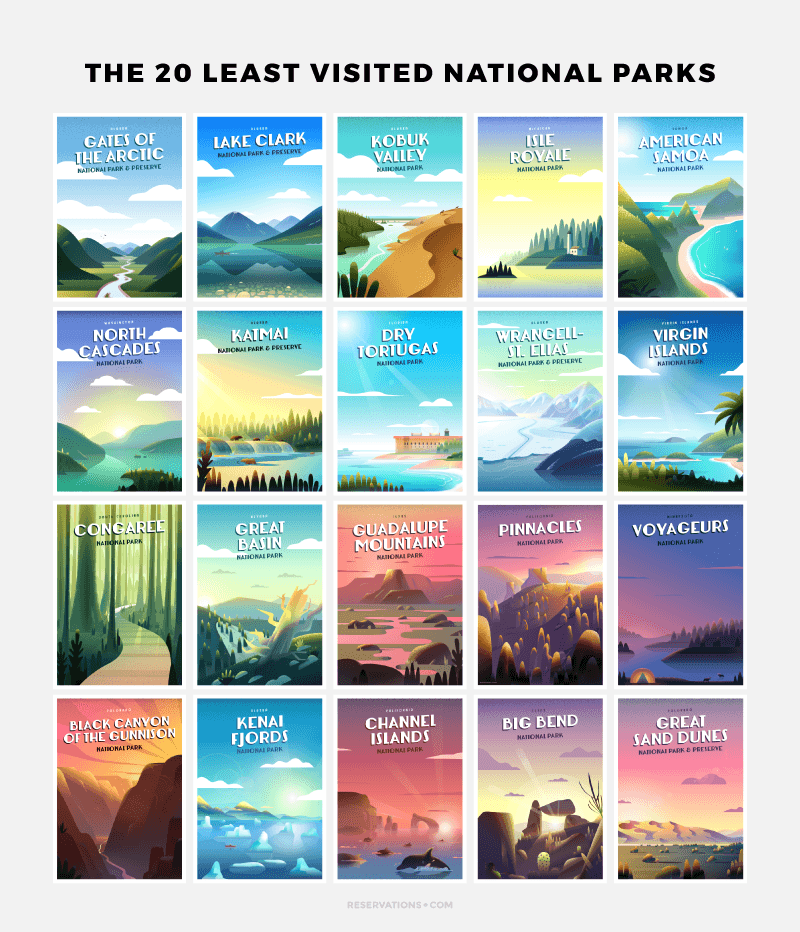 Retro National Park Posters: 20 Vintage Travel Posters Celebrating The Least Visited
