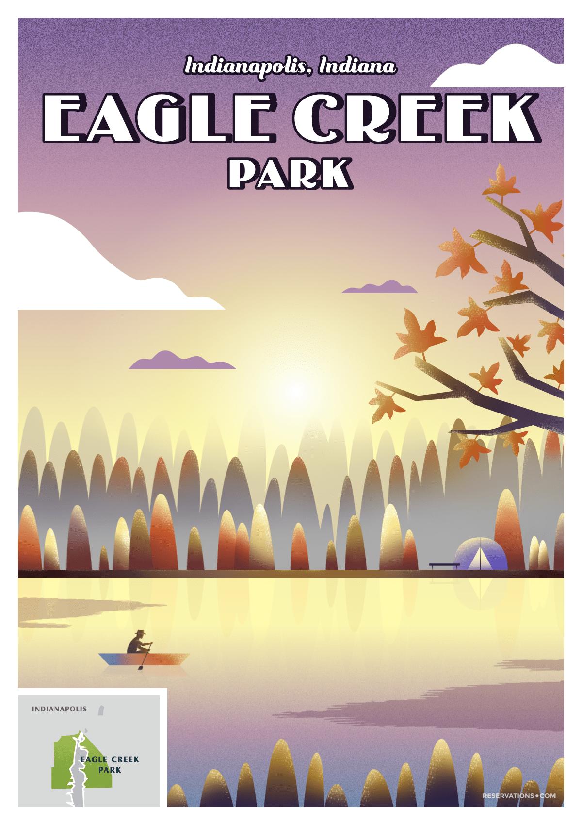 Eagle Creek Park Indianapolis, Indiana poster