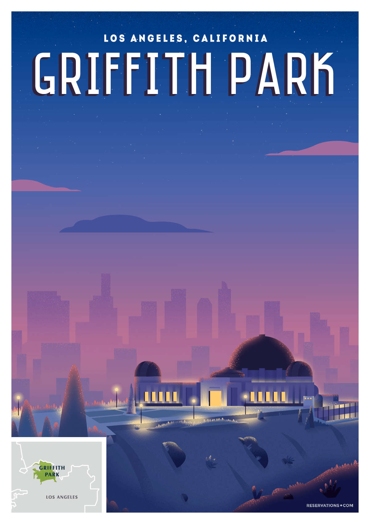 griffith park lost angeles poster
